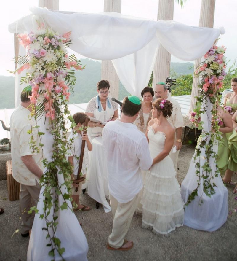 outdoor wedding ceremony chuppah